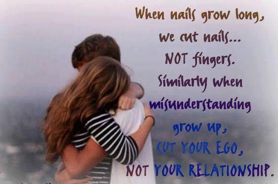 When Nails Grow Long We Cut Nails Not Fingers Similarly When