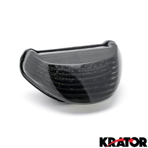 Krator® Smoke LED Tail Light Integrated with Turn Signals For 2004 Kawasaki Ninja ZX-12R / ZX1200