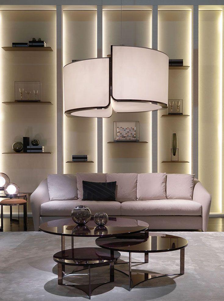 fendi casa - tiffany sofa and tolomeo coffee tables #fendi