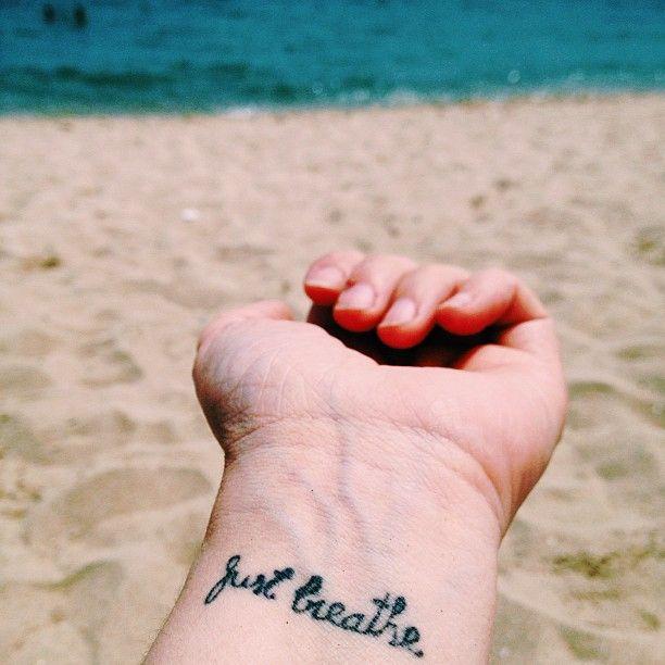 """My """"Just breathe"""" #tattoo  Love it!"""
