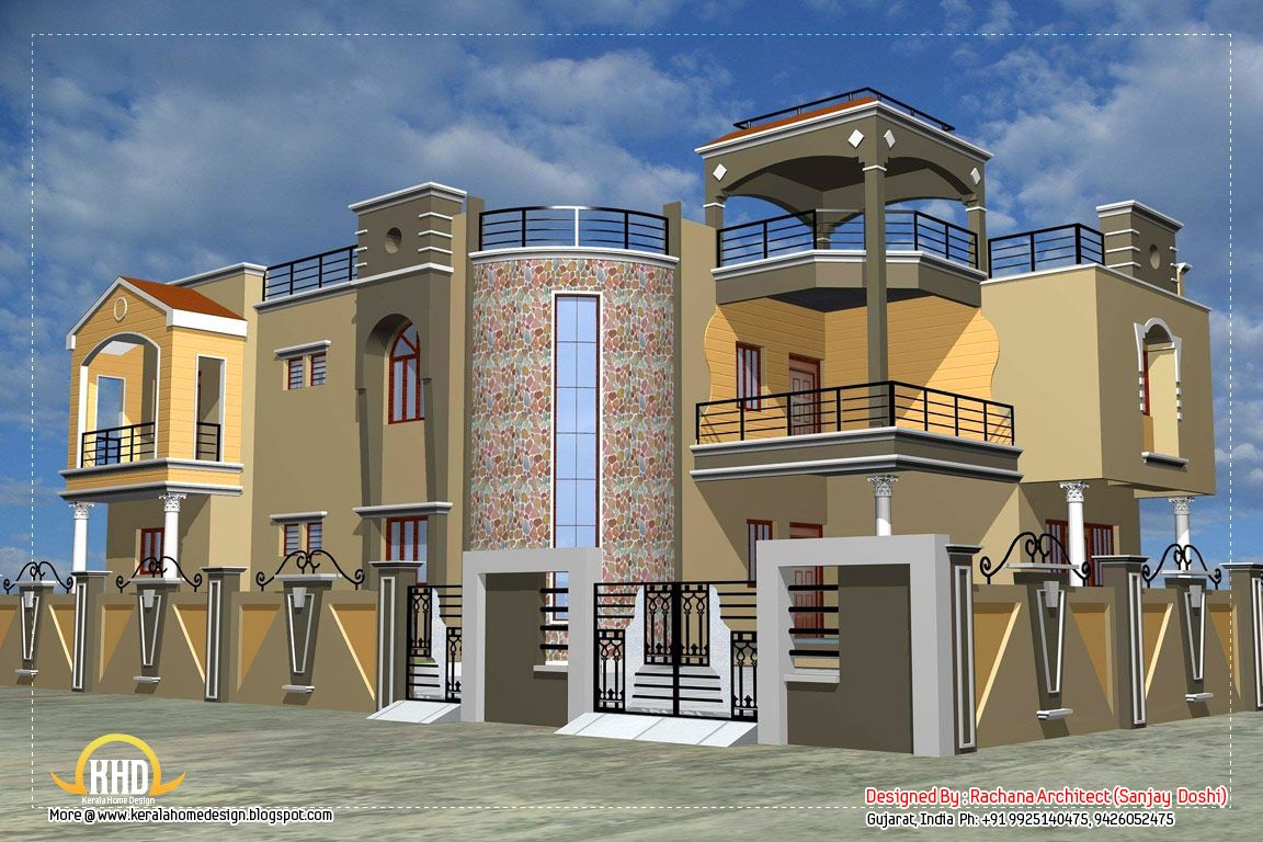 excellent house plan with luxury indian home exterior design excellent house plan with luxury indian - House To Home Designs