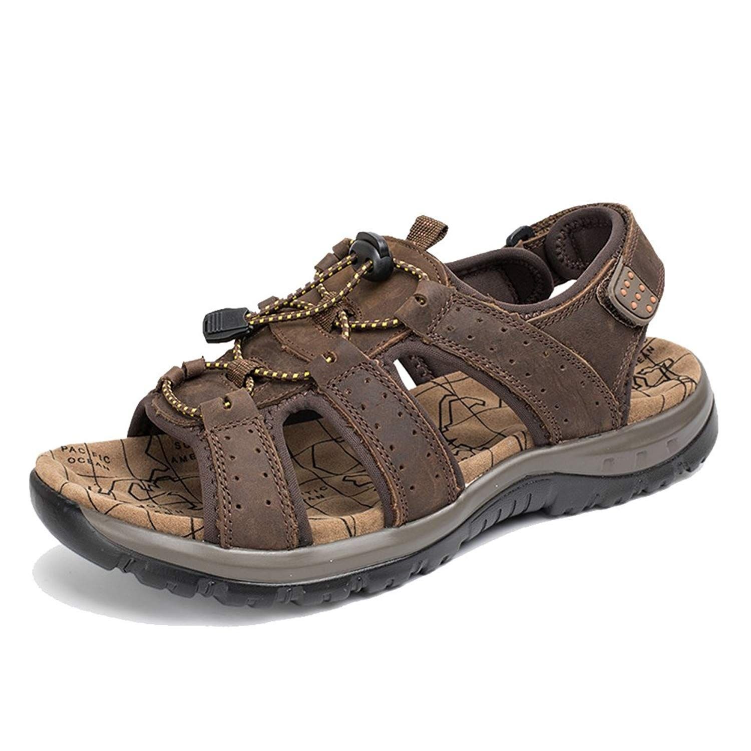d8c95826ddba8 Agowoo Women's Lace Up Hook and Loop Beach Hiking Sandals *** Read ...