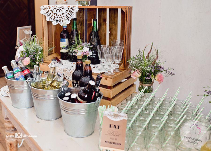 Portfolio Realizacje ślubów I Wesel Rustic Wedding Wedding Deco Bar Drinks