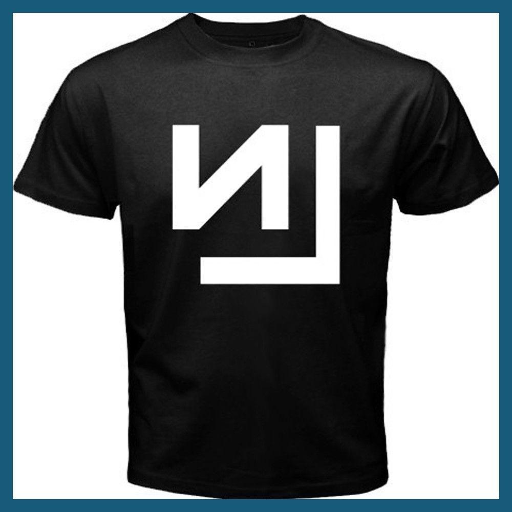 New NIN NINE INCH NAILS Rock Band Tour Logo Men\'s White Black T ...