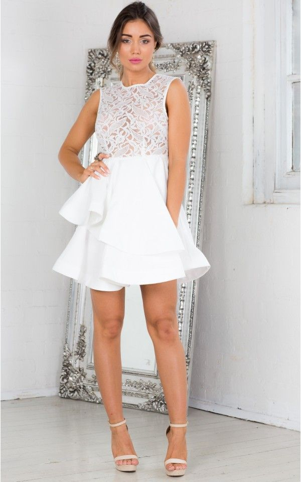 Laced With Dreams Dress in White   SHOWPO Fashion Online Shopping