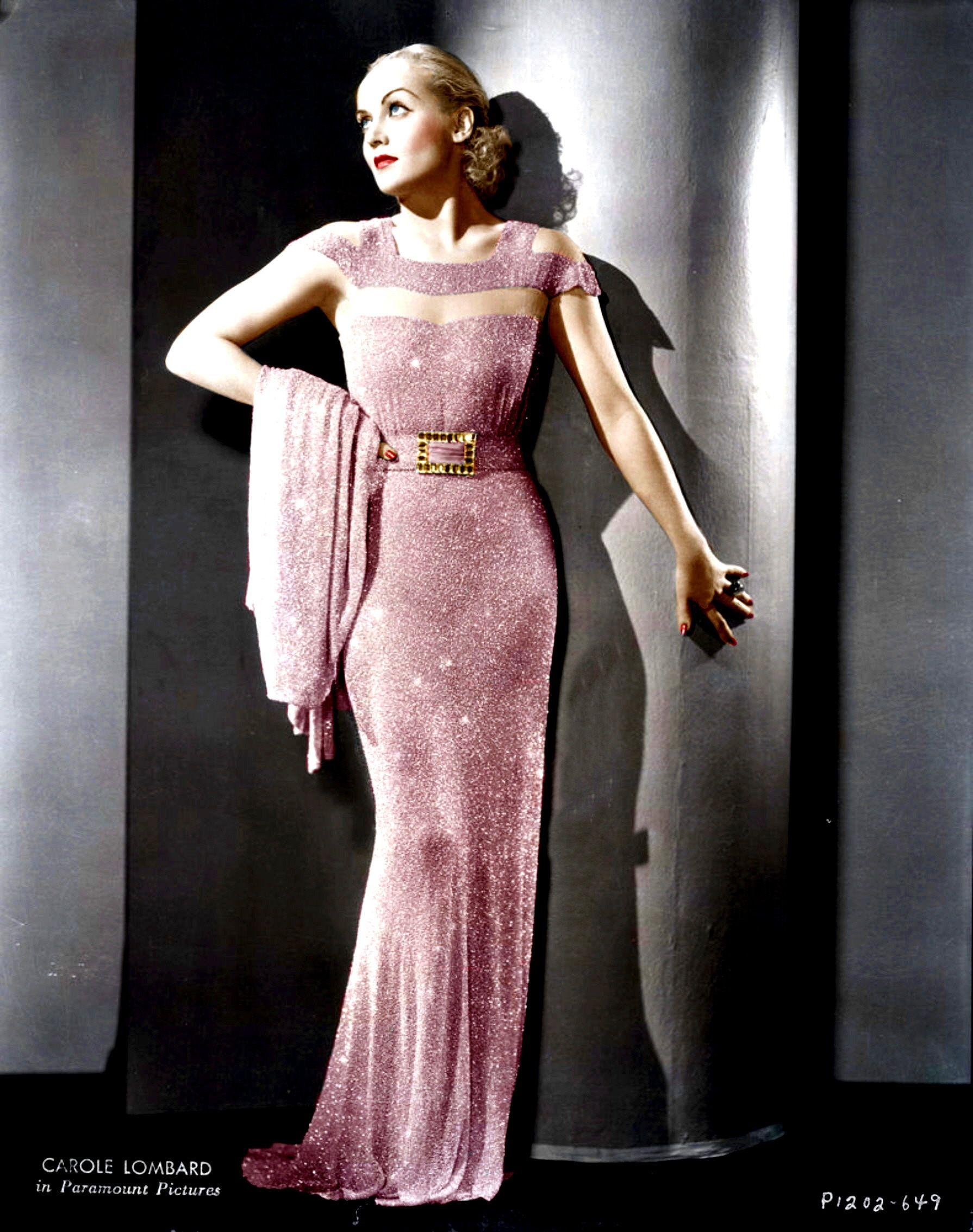 Carole Lombard Hollywood Glamour Dress Hollywood Fashion