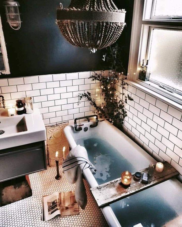 Dieses retro aber moderne Badezimmer lässt mich die ganze Zeit hier sein wollen. – Nageleffekt