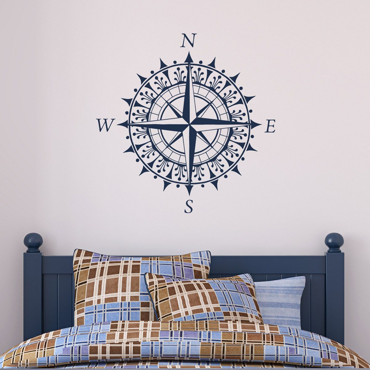 Wall Decal Art compass - vinyl wall decal sticker art design | compass, wall