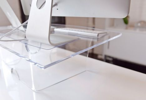 Lucite Stand Up Desk Extension Stand Up Desk Standing Desk Office Decor