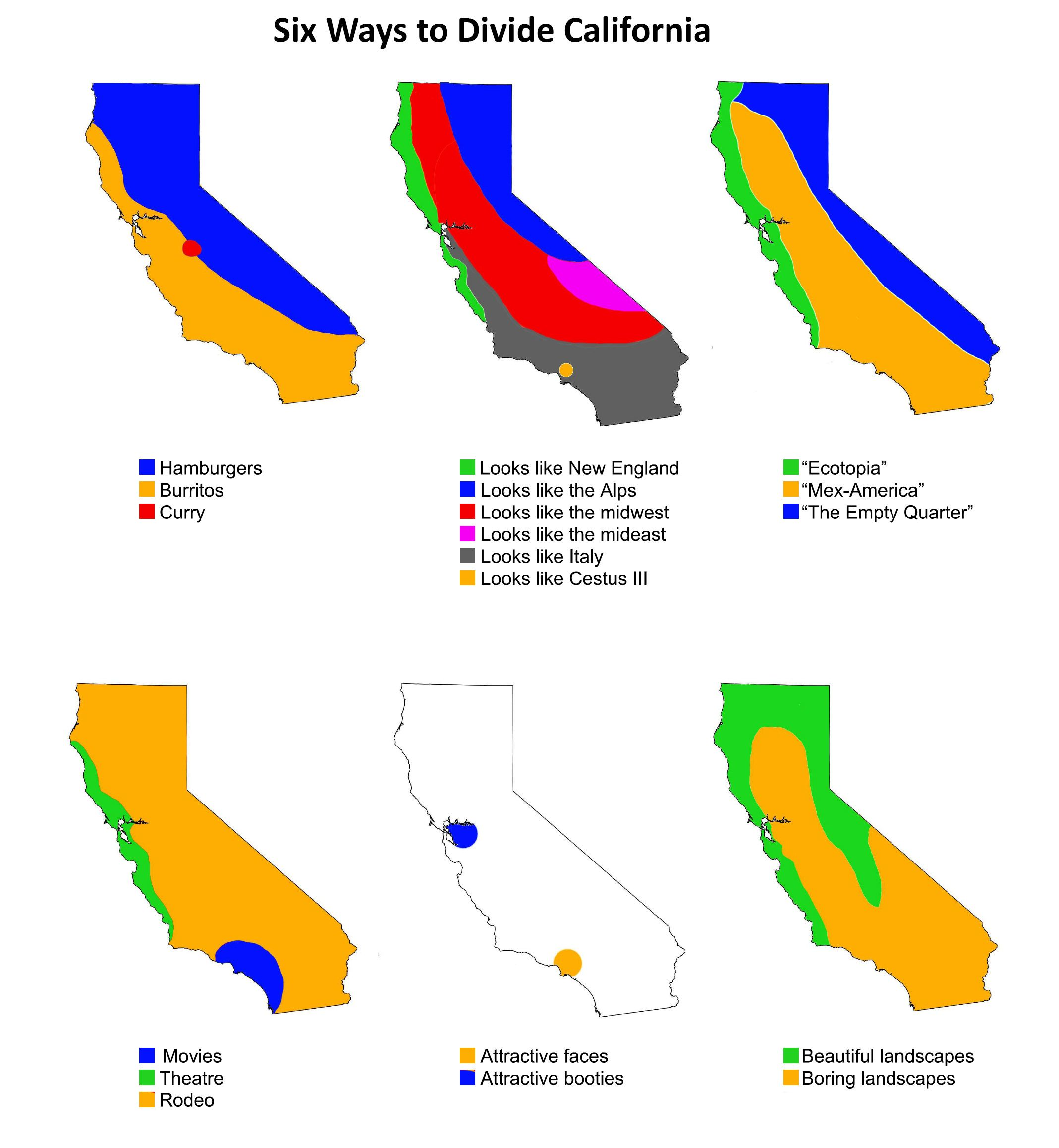 Six Ways To Divide California