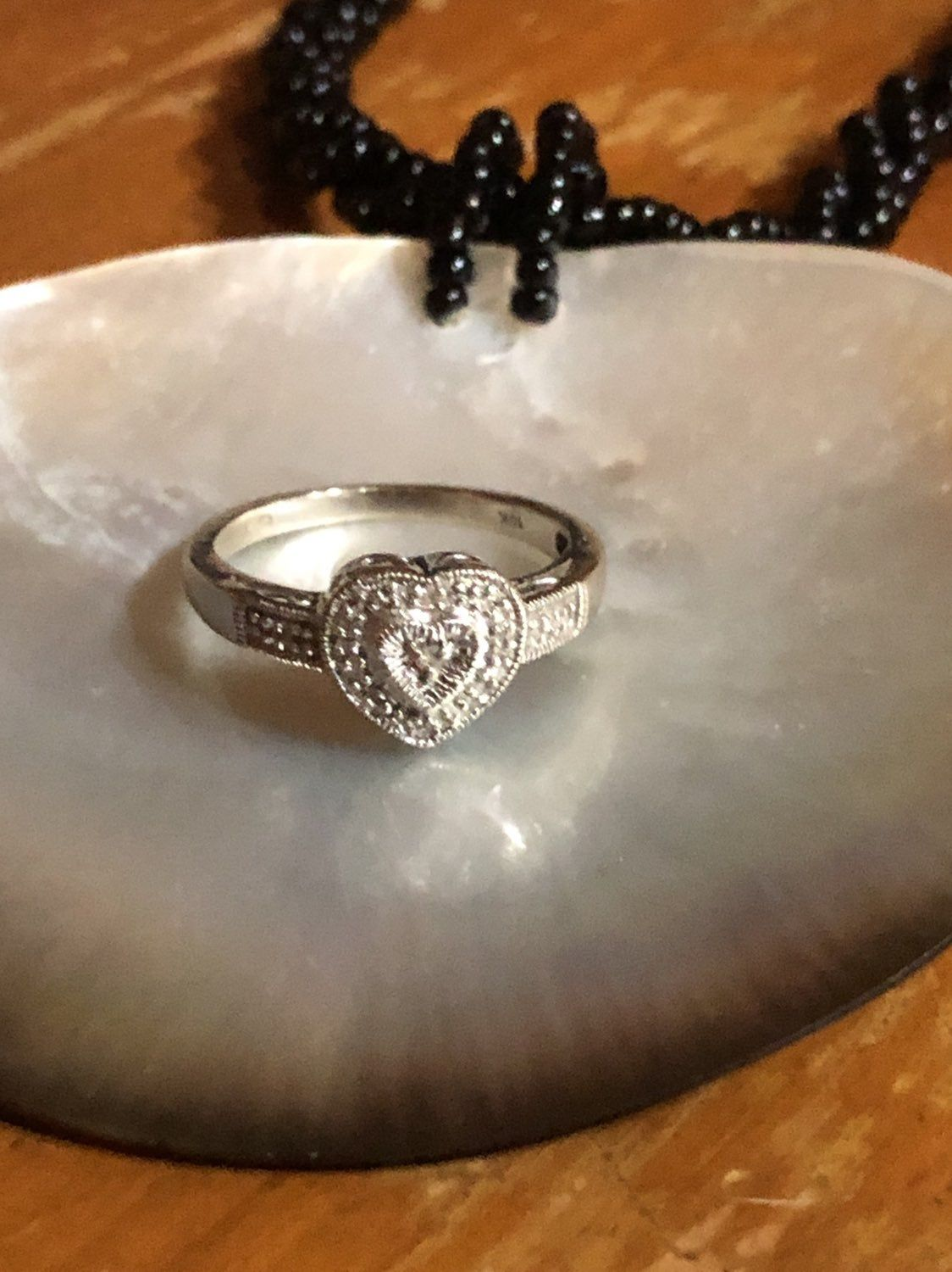 10k White Gold Ring On Mercari Kay Jewelers Rings Heart Shaped Rings White Gold Rings