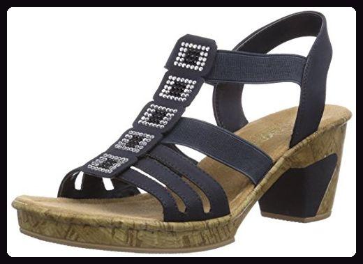 Rieker 69761 Women Open Toe Damen Sandalen Blau Pazifik 14 40 Eu Sandalen Fur Frauen Partner Link Rieker Schuhe Sandalen Sandalen Mit Keilabsatz