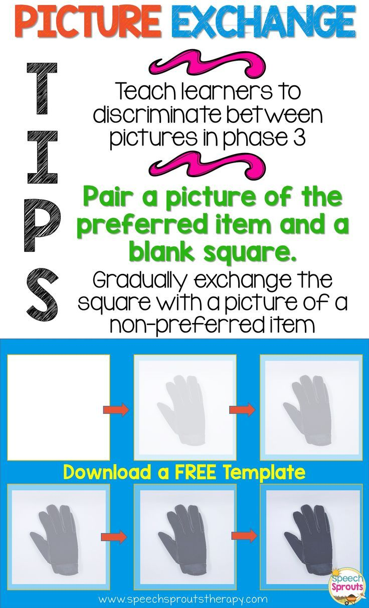 autism supports free templates to easily create picture exchange
