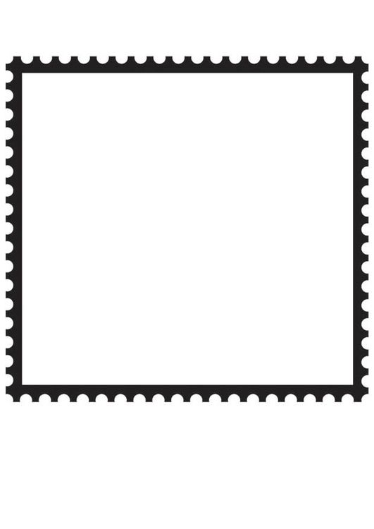 Coloring Page Square Postage Stamp Coloring Pages Postage Stamps