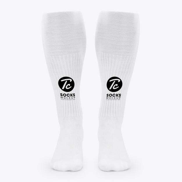 Download White Long Socks Mockup For Your Design In 2020 Long Socks Hoodie Mockup Socks