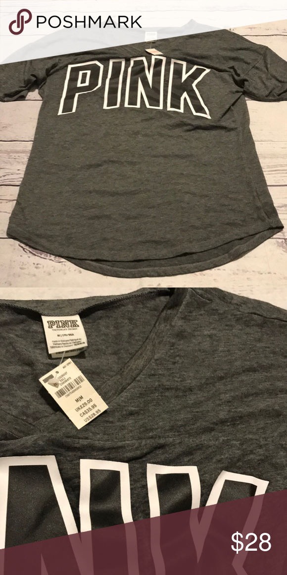 93526562e45 50% OFF BUNDLES NWT Victoria's Secret Tee M Oversized fit PINK Victoria's  Secret Tops Tees - Short Sleeve