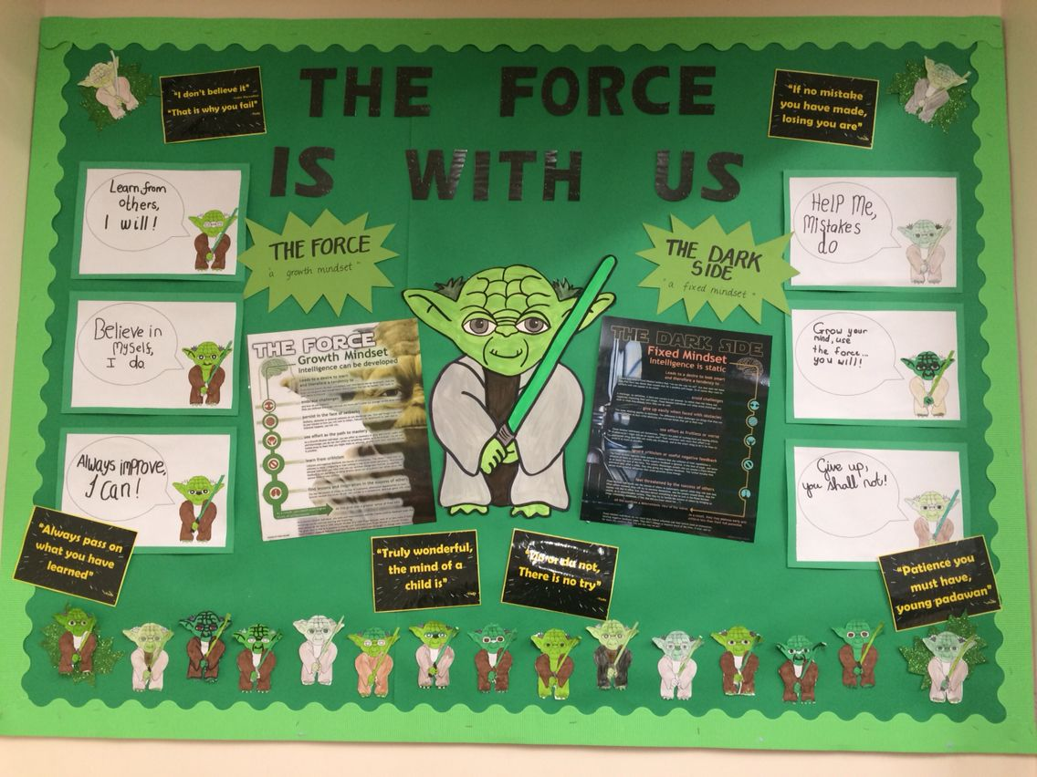 Anuncio Salon Del Porno Growth Mindset Star Wars Bulletin Board The Force The Dark