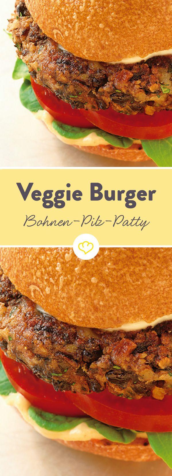 Bohnen Pilze Burger