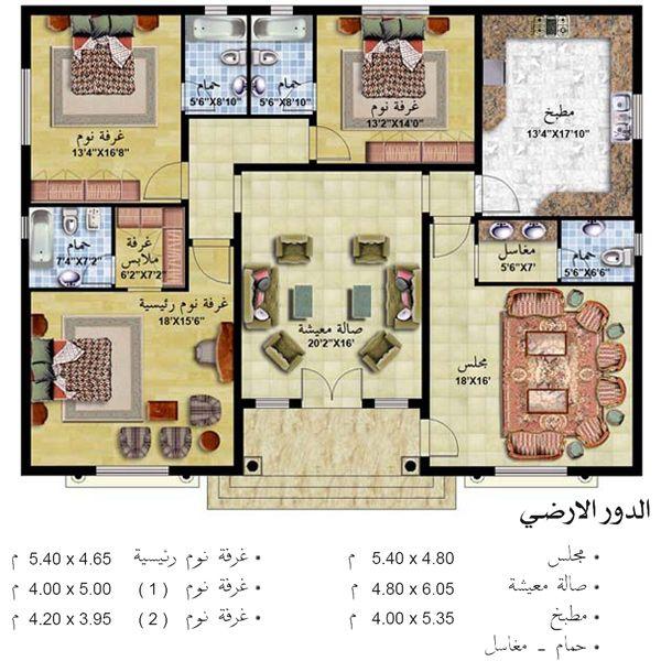 تصميم بيت الاحلام مسقط تصميم فلل فلل بطراز عربي واجهةمنازل خليجي ارقى التصاميم مميز منتدى النرجس My House Plans House Design Pictures Square House Plans