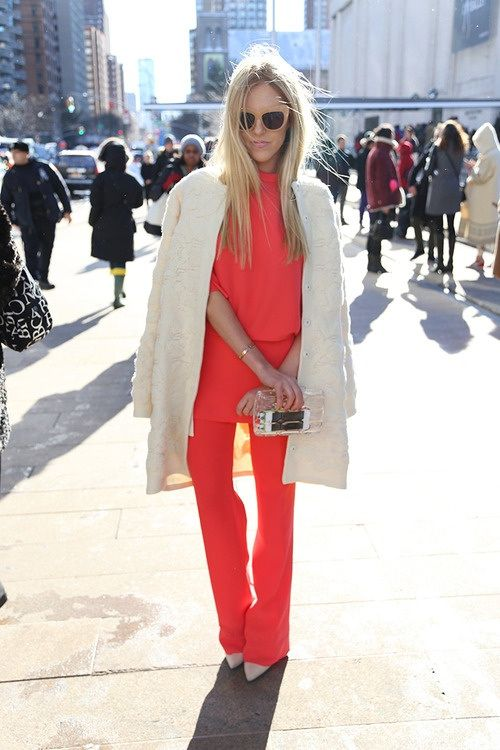 Fashion Beauty-my favorite color in the winter, spring, summer, fall....outrageous orange.