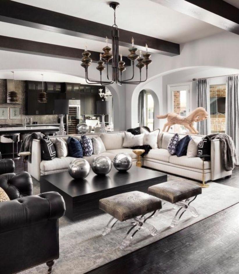 Modern Glam Living Room Decorating Ideas 33 Modern Glam Living