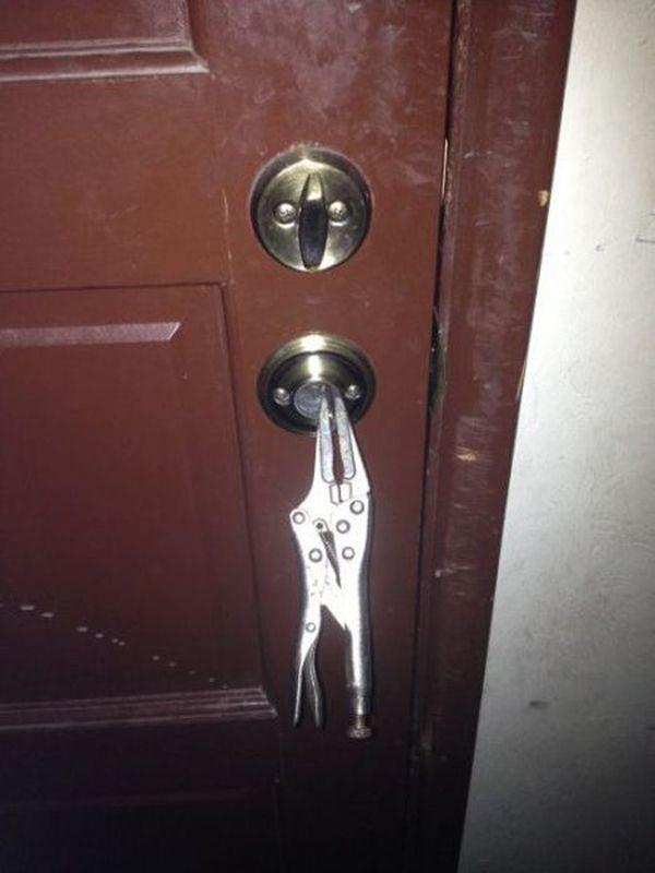 This is your idea of fixing a broken door knob | Might Be A Redneck ...