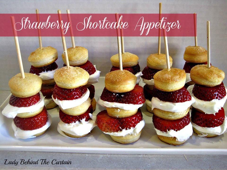 Strawberry shortcake appetizers