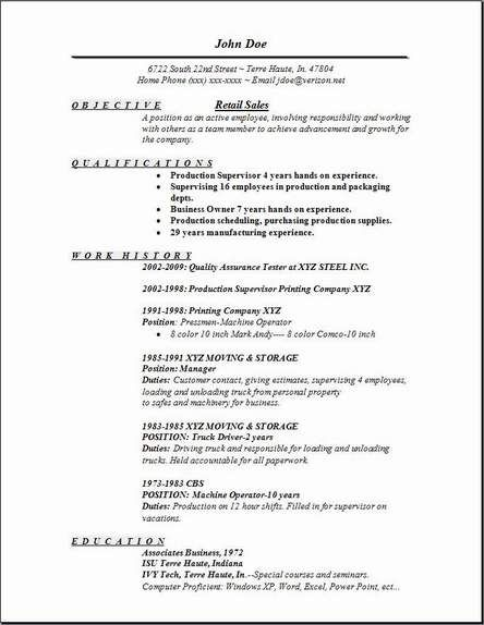 Retail Resume Templates Pinterest Sample Resume Resume And