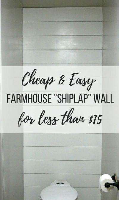 How To Install A Faux Shiplap Wall - Making Manzanita -   21 diy Bathroom wall ideas