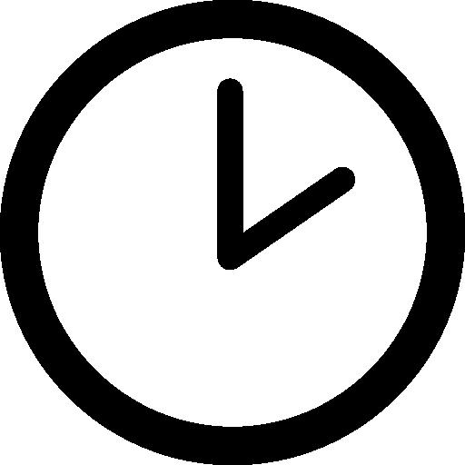 Reloj de forma circular en dos icono gratuito | Set de iconos, Iconos de  redes sociales, Iconos