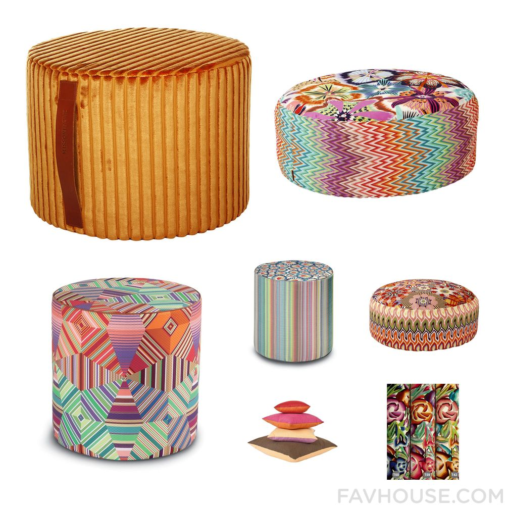 Interior Recipes Featuring Missoni Home Ottoman Chevron Furniture ... - Interior Recipes Featuring Missoni Home Ottoman Chevron Furniture Missoni  Home Ottoman And Floral Ottoman From March