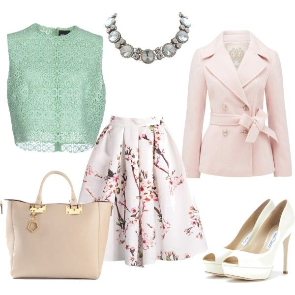 A fashion look from February 2015 featuring Just Cavalli tops, Forever New coats and Jimmy Choo pumps. Browse and shop related looks.