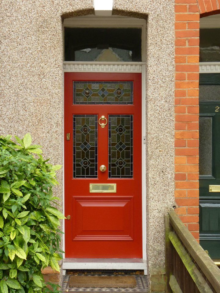 The London Door Company \'Red Clay\' paint colour - Gloss | front ...