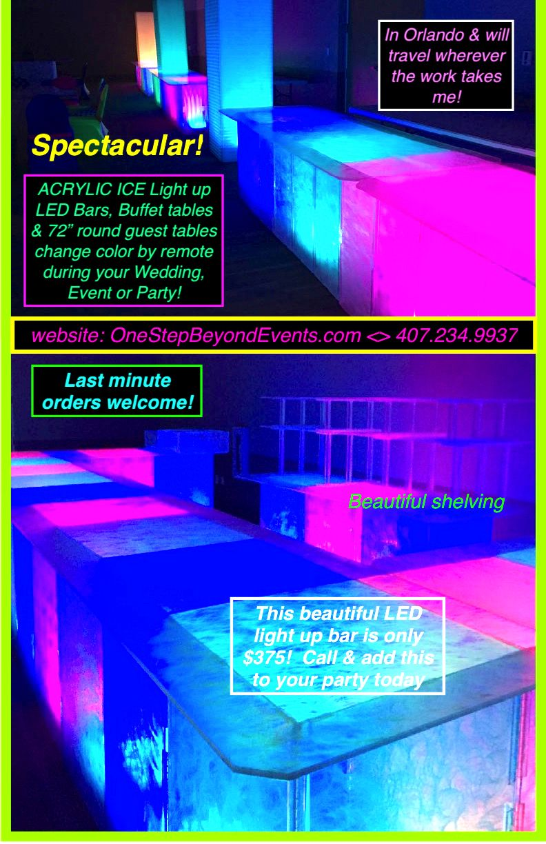 Prom 50 Off Light Up Tables Florida Traveling Decorator