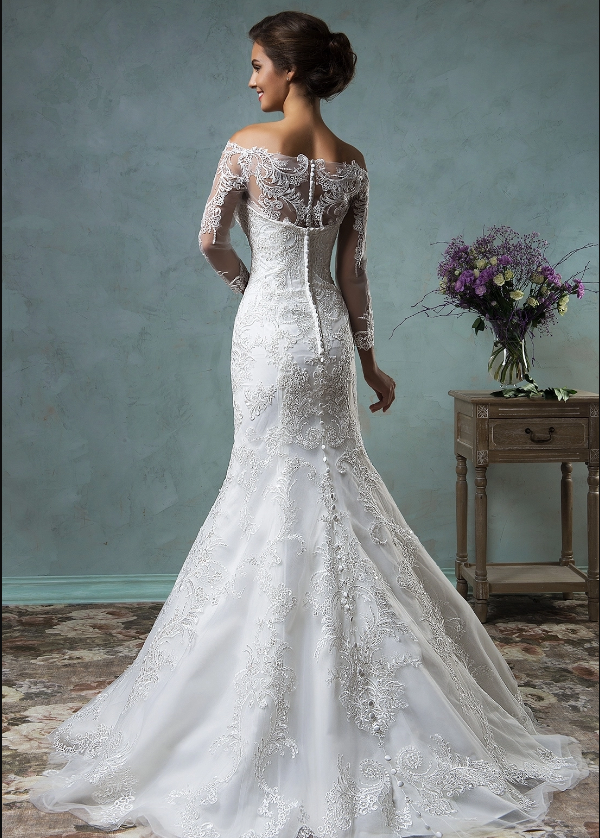 Detachable Tulle and Organza Overskirt Wedding Dresses