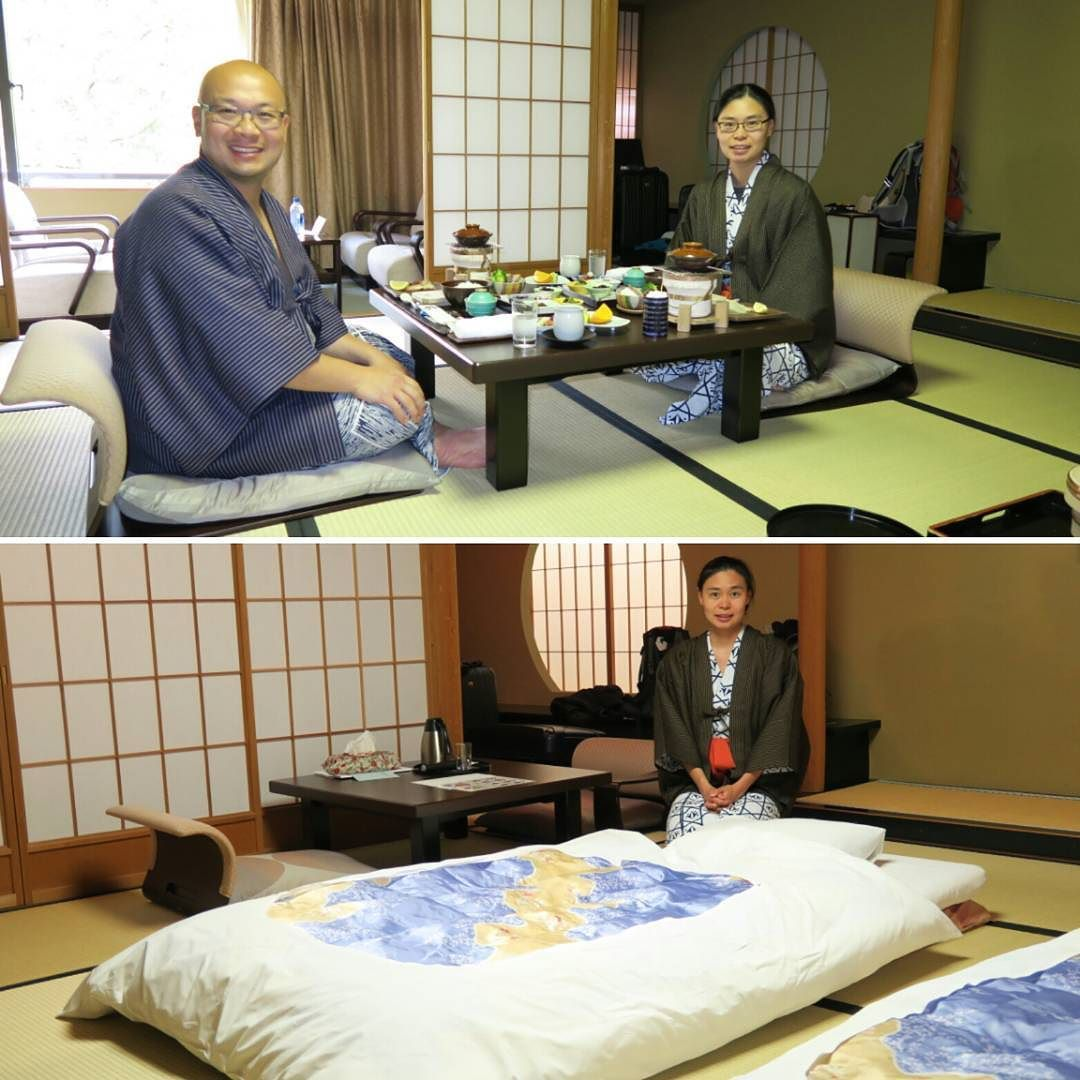 Went in Japan try a #ryokan. Traditional Japanese inn.  #tatami #yukata #onsen #kaiseki by _clai