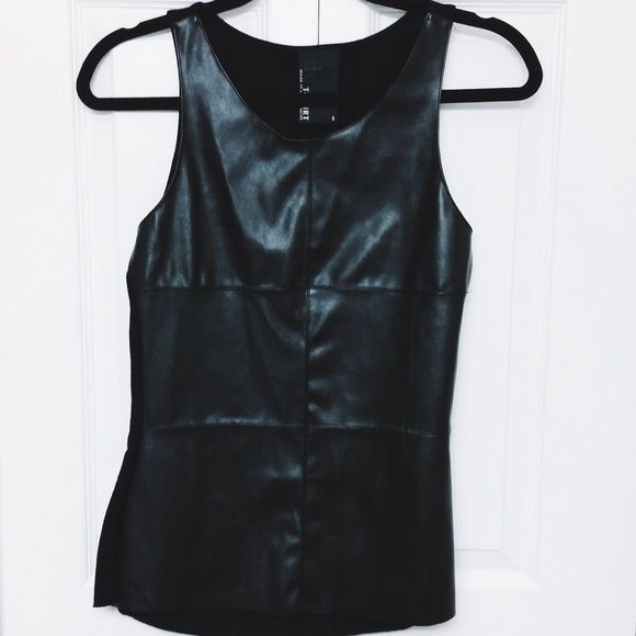 Leather Front Tank | NEW never worn Leather Front Tank | S | NEW never worn Tops Tank Tops