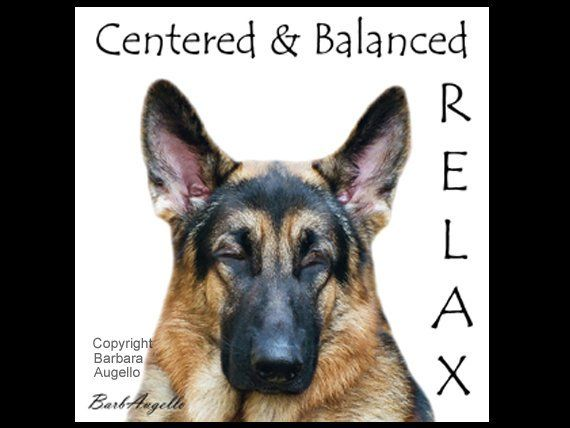 German Shepherd Yoga Coasters German Shepherd Gift Yoga Gift