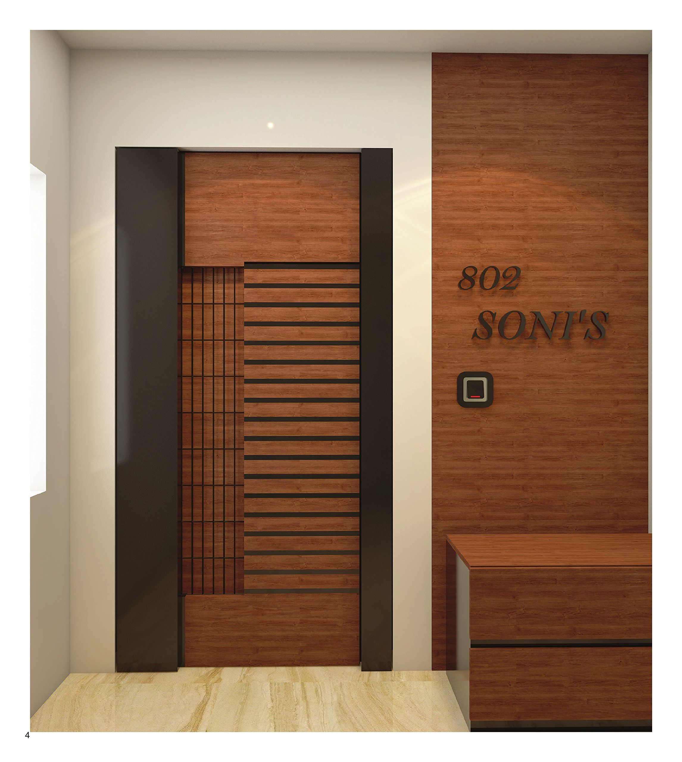 Contemporary Door Design Ideas: Wooden Safety Door Designs For Homes