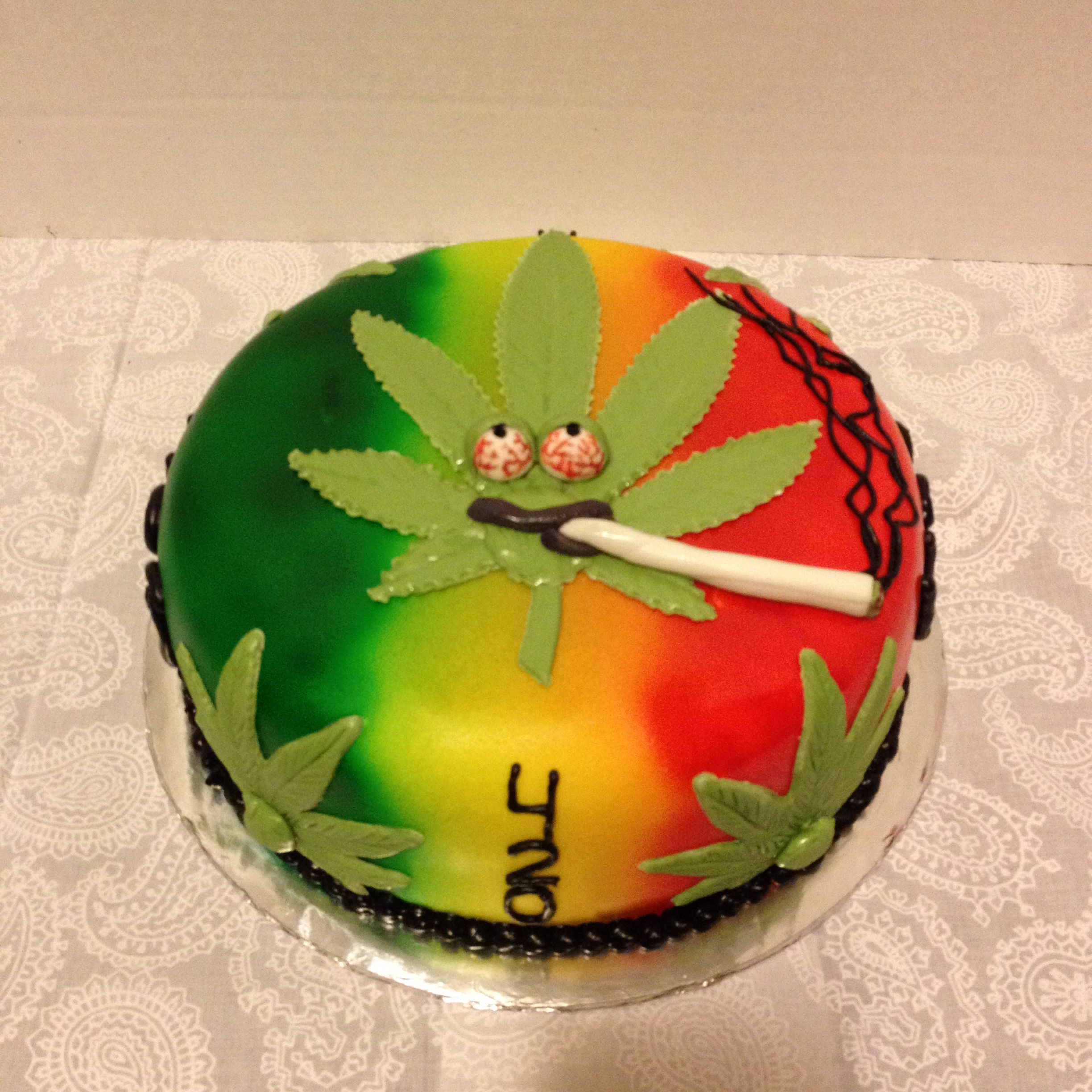 """""""Weed"""" Themed Cake"""
