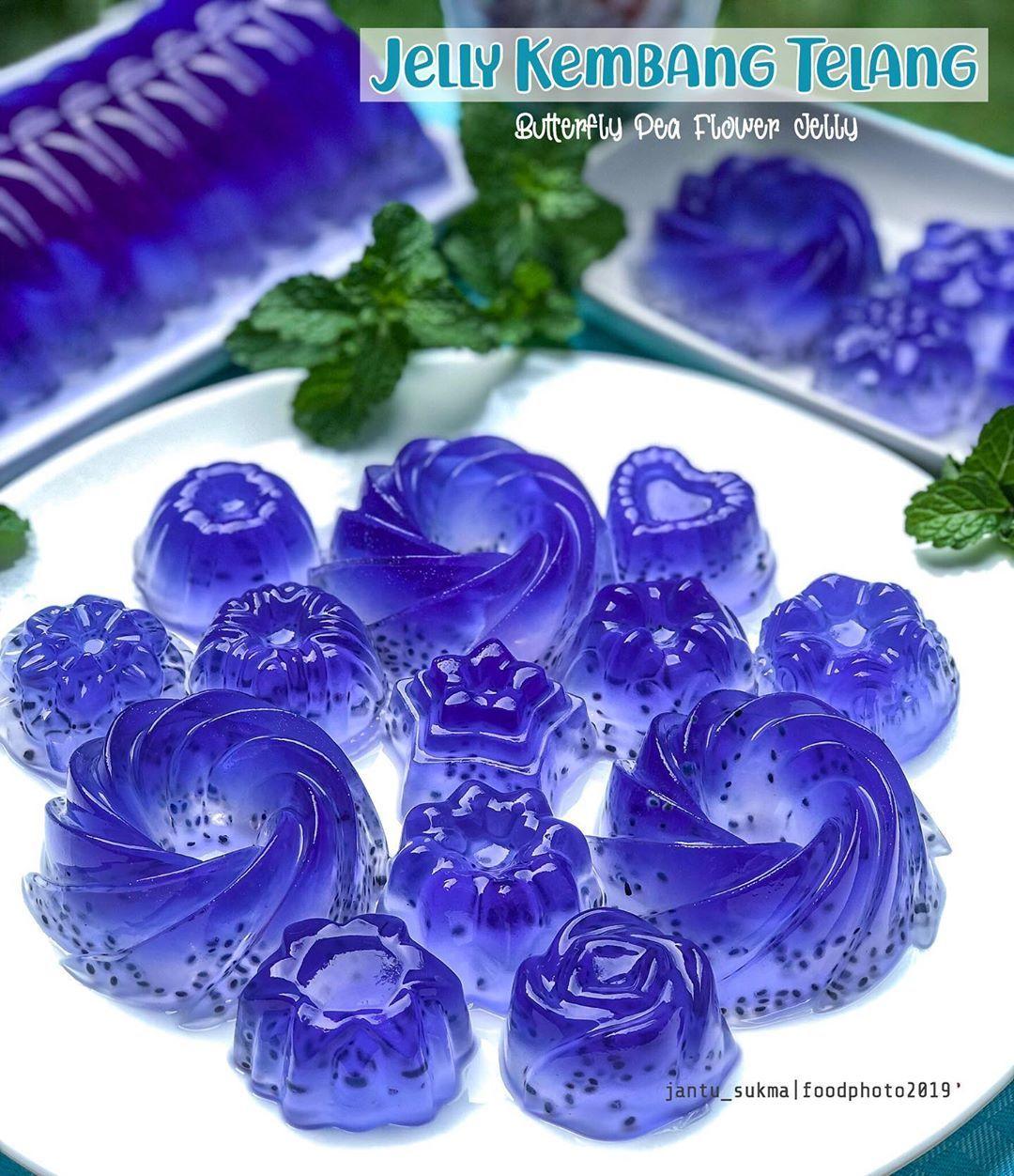 Jelly Kembang Telang Bunga Telang Atau Dikenal Dengan Butterfly Pea Flower Dalam Bahasa Inggris Adalah Pewarna Alami Makanan Unt Flowers Kembang Jelly