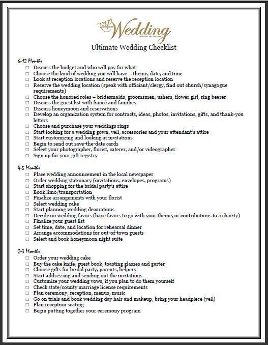 Wedding check list #weddingphotographychecklist Wedding