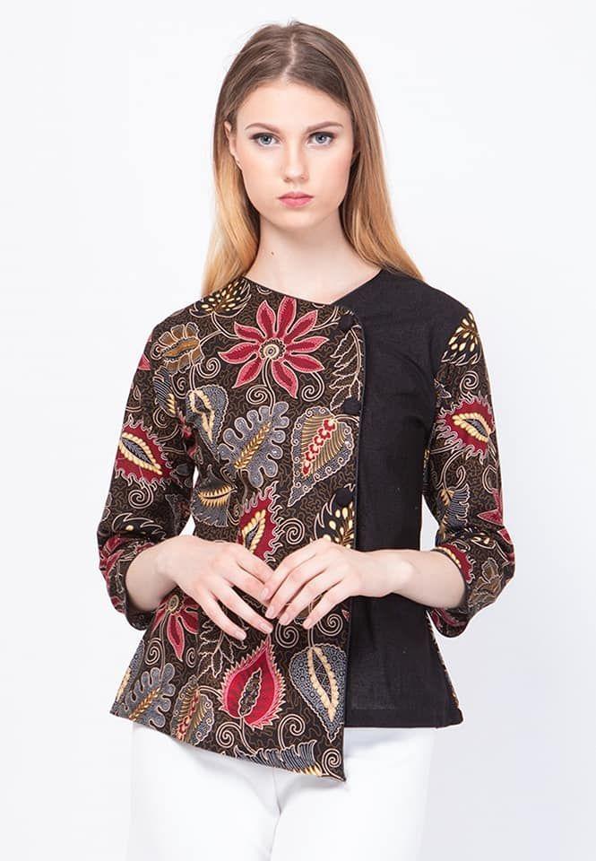 Model Baju Batik Wanita Terbaru 2019 Atasan Lengan Panjang