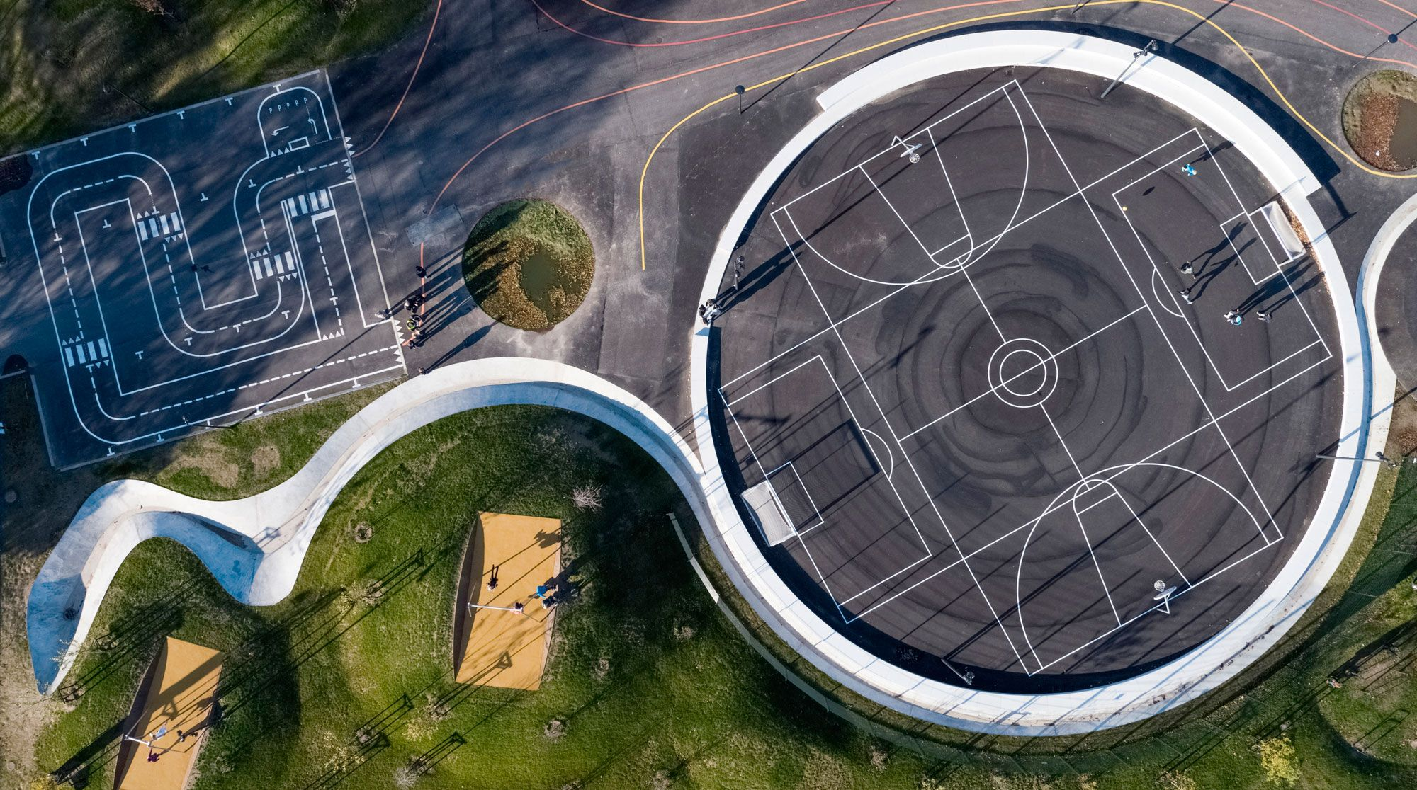 Kokkedal Climate Adaption By Schonherr Landscape Architecture Works Landezine Landscape Architecture Urban Landscape Park Landscape