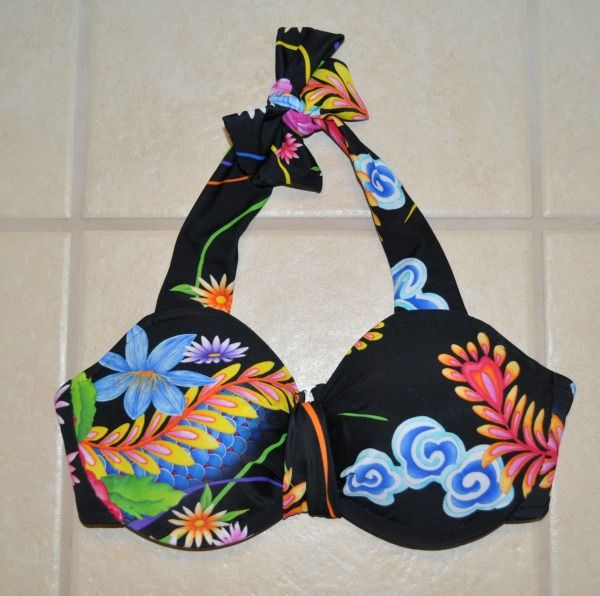 Turn an old bra into a swimsuit top!