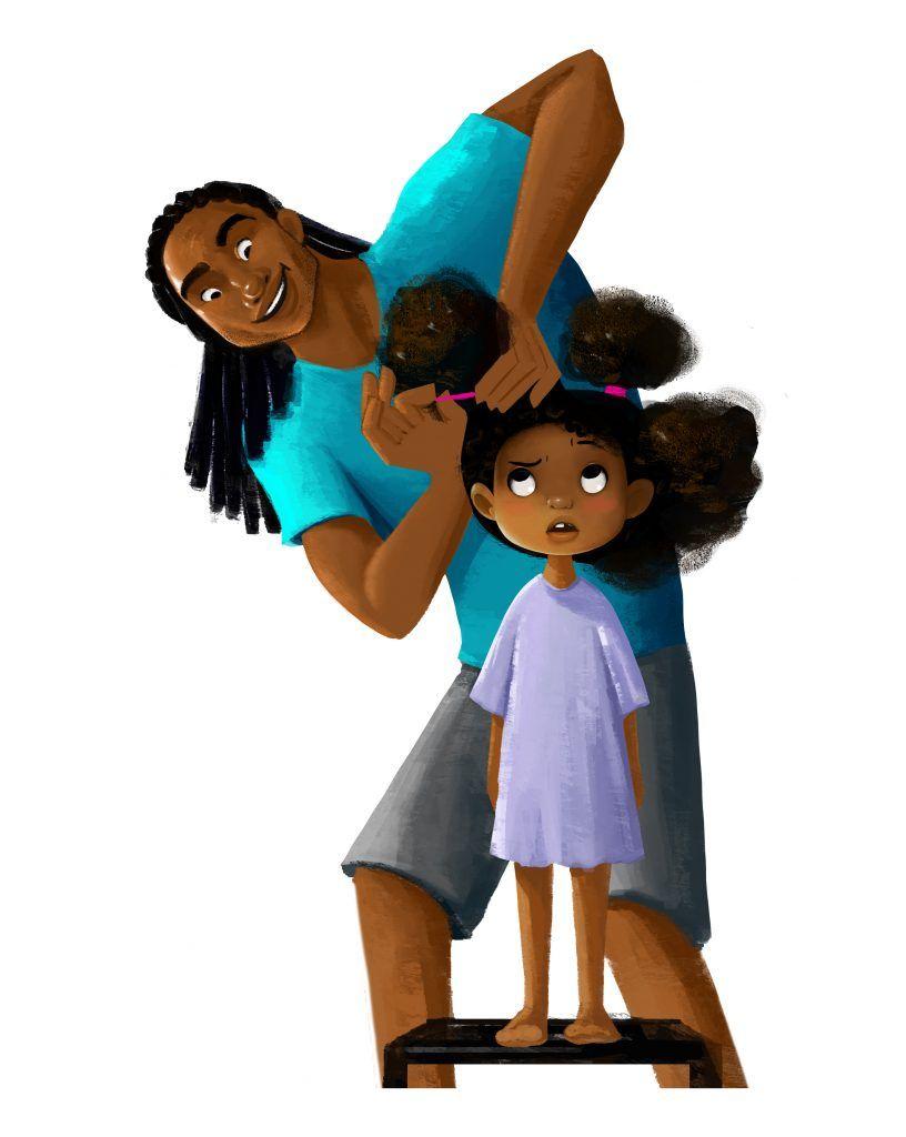 4-year- Character Big Beautiful Afro