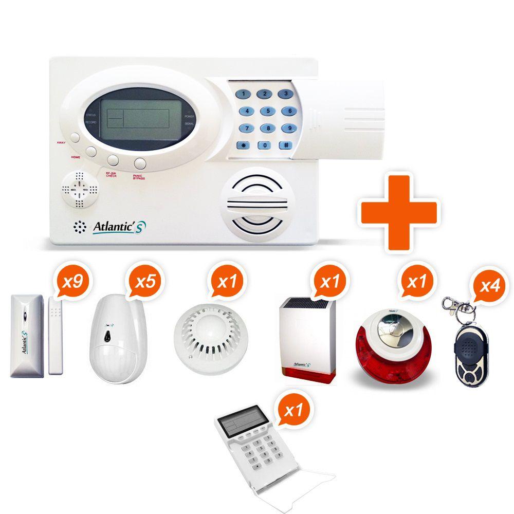 alarme sans fil atlantic 39 s st iii kit 10 contenu du pack 1 centrale sans fil st iii 9. Black Bedroom Furniture Sets. Home Design Ideas