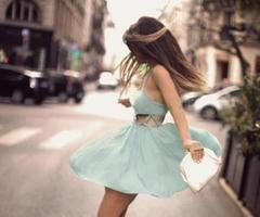 girl in a twirling dress :)