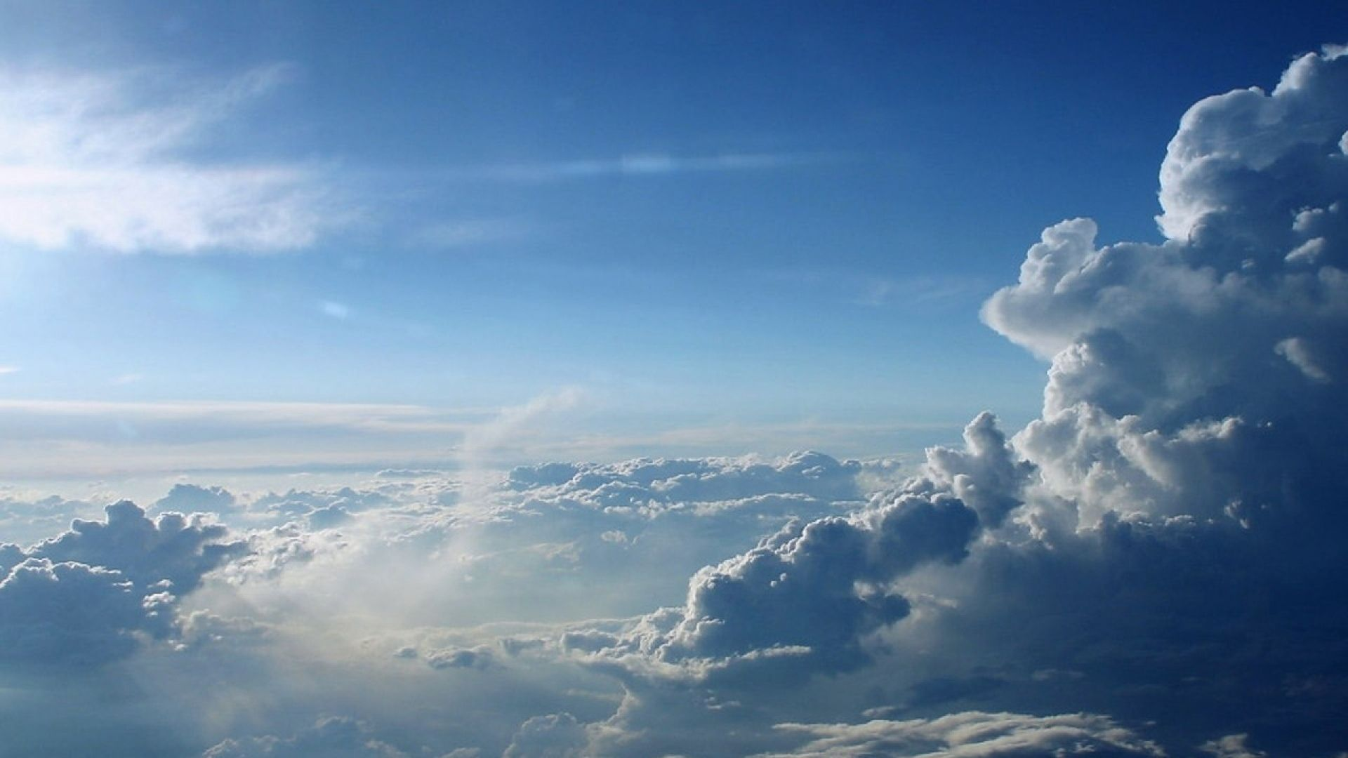 Download Wallpaper 1920x1080 Clouds Height Blue White Full Hd 1080p Hd Background Clouds Cloud Wallpaper Background