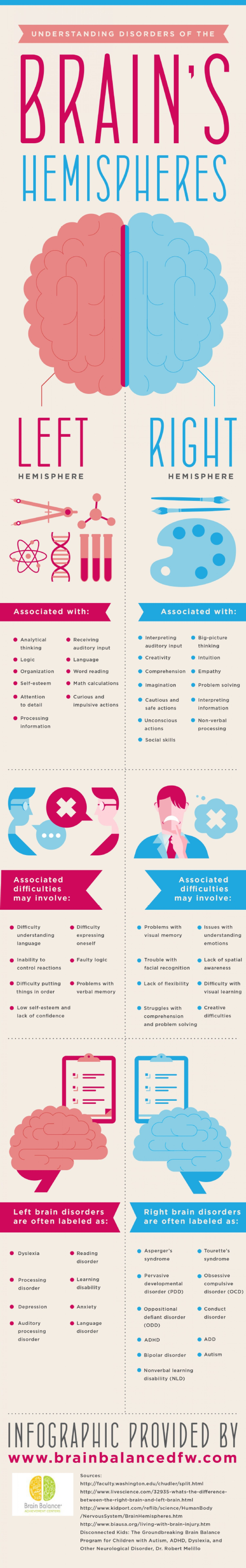 Understanding Disorders of the Brain's Hemispheres  Infographic